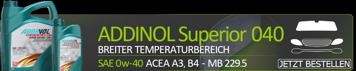 ADDINOL Motoröl 0W40 Superior 040